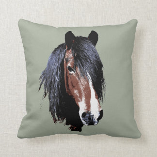 A welsh bay mare cushion