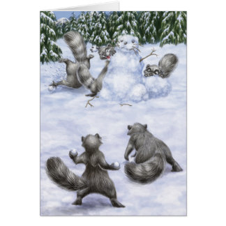 A West Coast Christmas: Raccoons Card