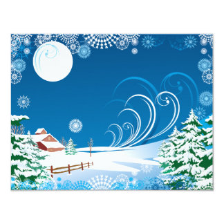 A White Christmas 11 Cm X 14 Cm Invitation Card