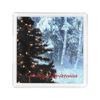 A White Christmas Acrylic Tray