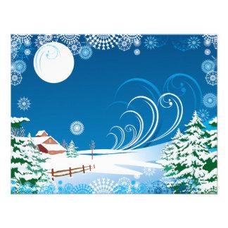 A White Christmas Custom Invitation