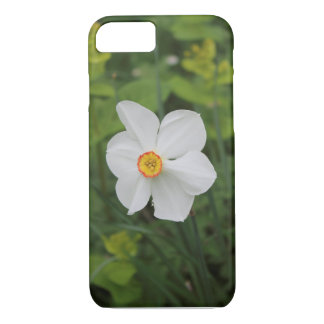 A white flower cover for iPhone case