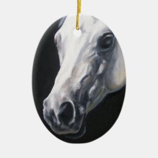A White Horse Ceramic Ornament