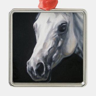 A White Horse Metal Ornament