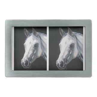 A White Horse Rectangular Belt Buckles