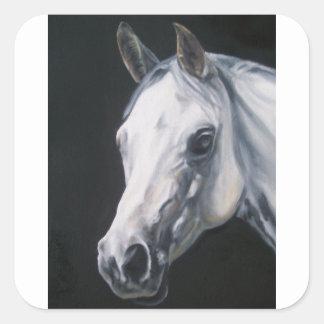 A White Horse Square Sticker