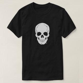 A White Human Skull Head T-Shirts