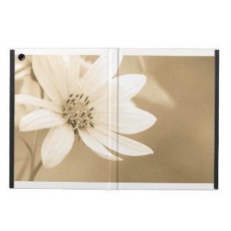 A white sunflower iPad air cases