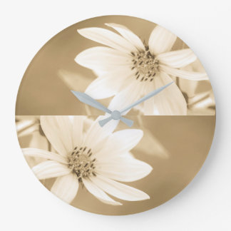 A white sunflower large clock