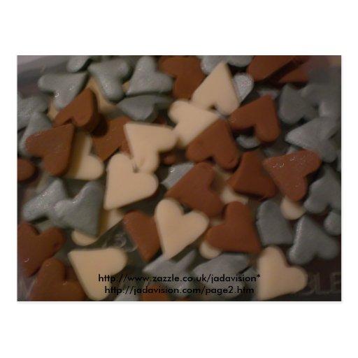 A whole lot of hearts postcard
