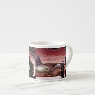 A Whole New World - Sci-Fi - Cat on Mars Espresso Mug