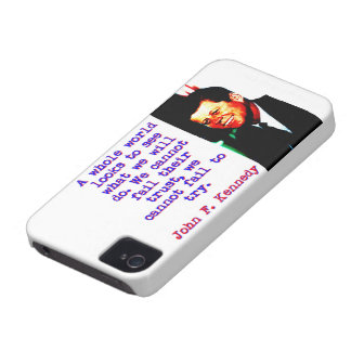 A Whole World Looks - John Kennedy Case-Mate iPhone 4 Case