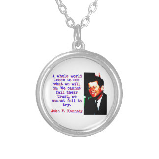 A Whole World Looks - John Kennedy Silver Plated Necklace