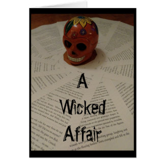 """A Wicked Affair"" Greeting Card Invitation"