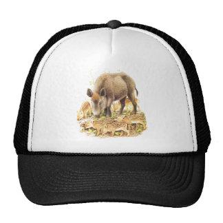 A Wild Boar and Babies Trucker Hat