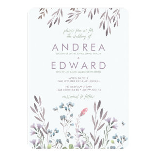 A Wildflower Wedding Card