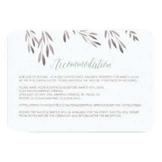A Wildflower Wedding Hotel Enclosure Card 9 Cm X 13 Cm Invitation Card