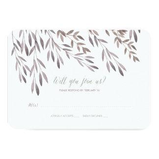 A Wildflower Wedding RSVP 9 Cm X 13 Cm Invitation Card