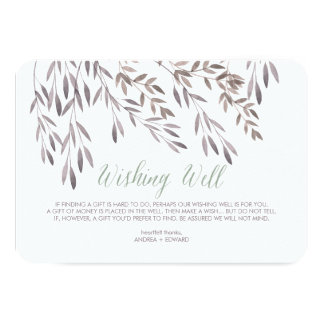 A Wildflower Wedding Wishing Well Enclosure Card