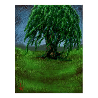 A Willow in a Valley Postcard