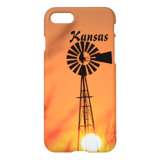 A Windmill Sunset Phone Case