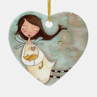 A Wing and A Purr Ceramic Ornament
