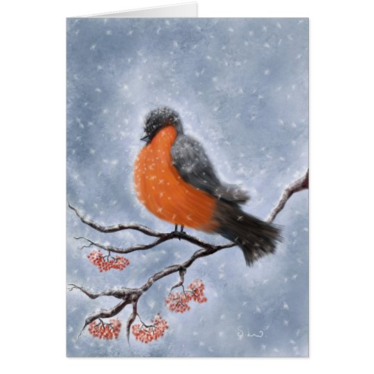 A winter scene greeting, holiday card
