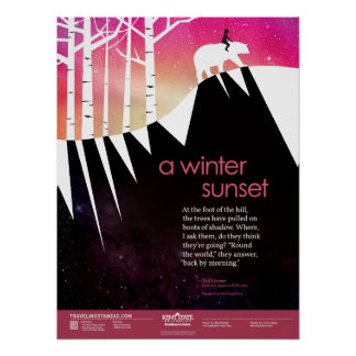 A Winter Sunset Poster