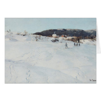 A Winter's Day in Norway, 1886 Card