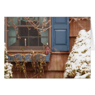 A winters morning greeting card