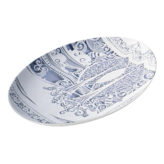 A Winter's Snow Porcelain Serving Platter