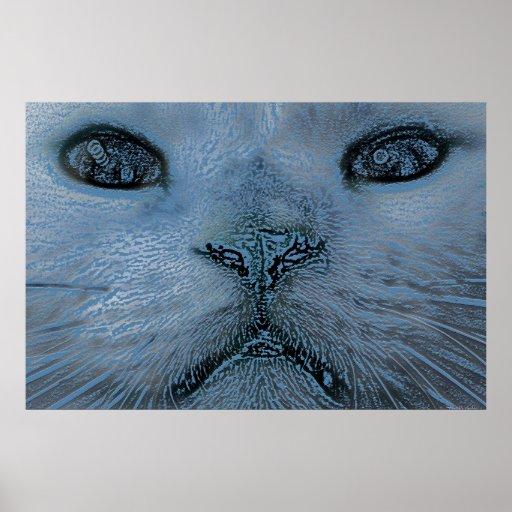 A Wintery Feline 36 x 24 Poster