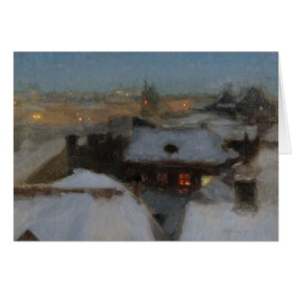 A Wintry Evening in Stockholm Card
