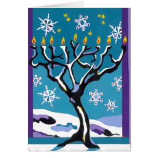A Wintry Hanukkah Card