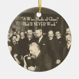 A Wire Made of Glass Humorous Tech Ceramic Ornament