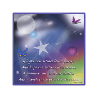A wish can give a star it's beam. canvas print