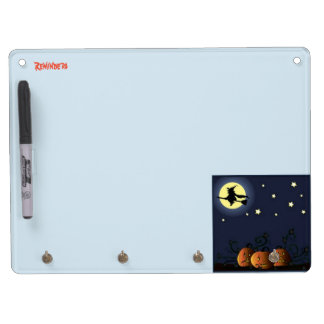 A Witch Amongst the Stars Dry Erase Board With Key Ring Holder