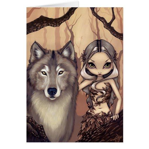 """A Wolfish Friend"" Greeting Card"