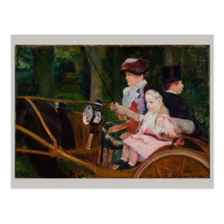 A Woman and a Girl Driving by Mary Cassatt Postcard