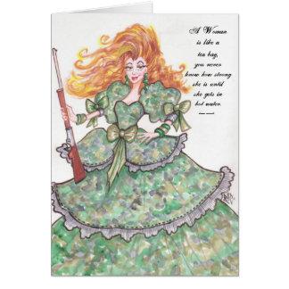 A Woman -Card Card