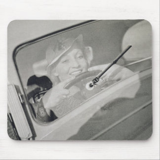 A woman driving, c.1930s (photogravure) mouse pad