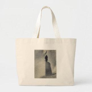 A Woman Fishing (conte crayon) Large Tote Bag