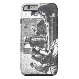 A woman negotiates with a factory manager, assiste tough iPhone 6 case