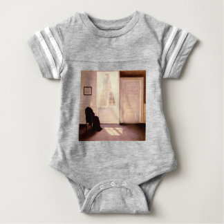 A Woman Reading By A Window Baby Bodysuit