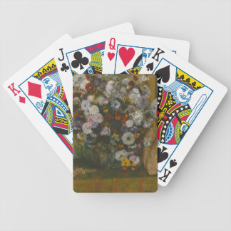 A Woman Seated beside a Vase of Flowers Bicycle Playing Cards