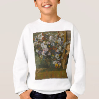 A Woman Seated beside a Vase of Flowers Sweatshirt