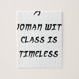a woman with class is timeless jigsaw puzzle