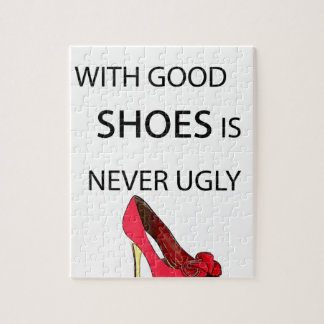 a woman with good shoes jigsaw puzzle