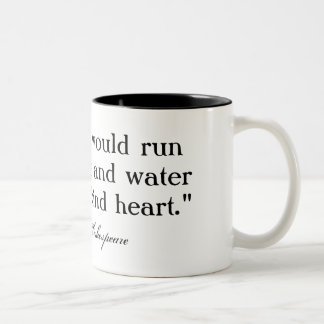 A woman would run through fire ... Shakespeare Coffee Mugs