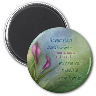 A Womans Heart - Calla Lily 6 Cm Round Magnet